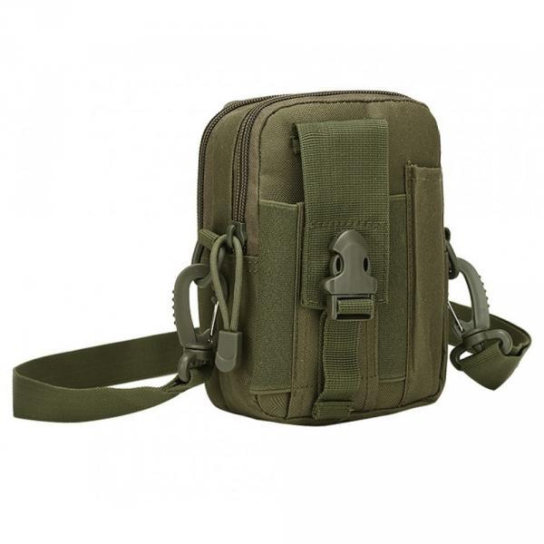 Тактическая универсальная (поясная) сумка - подсумок с ремнём Mini warrior с системой M.O.L.L.E (с101 олива)