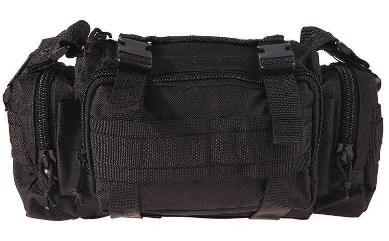 Тактическая универсальная (поясная, наплечная) сумка Silver Knight с системой M.O.L.L.E Black (105-black)