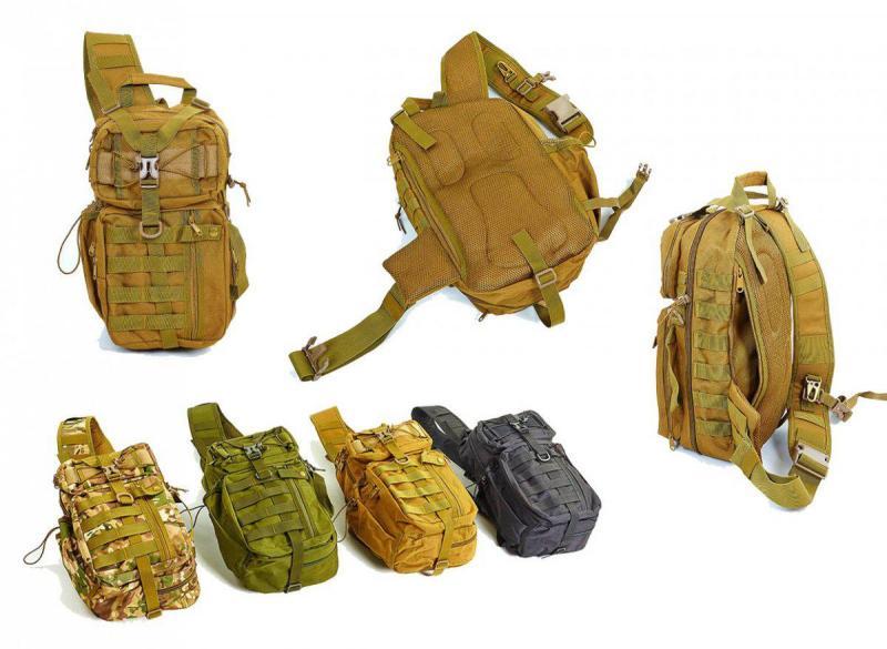 Рюкзак тактический патрульный однолямочный 20L Койот