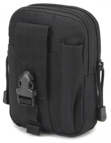Тактическая универсальная (поясная) сумка - подсумок Mini warrior с системой M.O.L.L.E Olive (с001 черная)