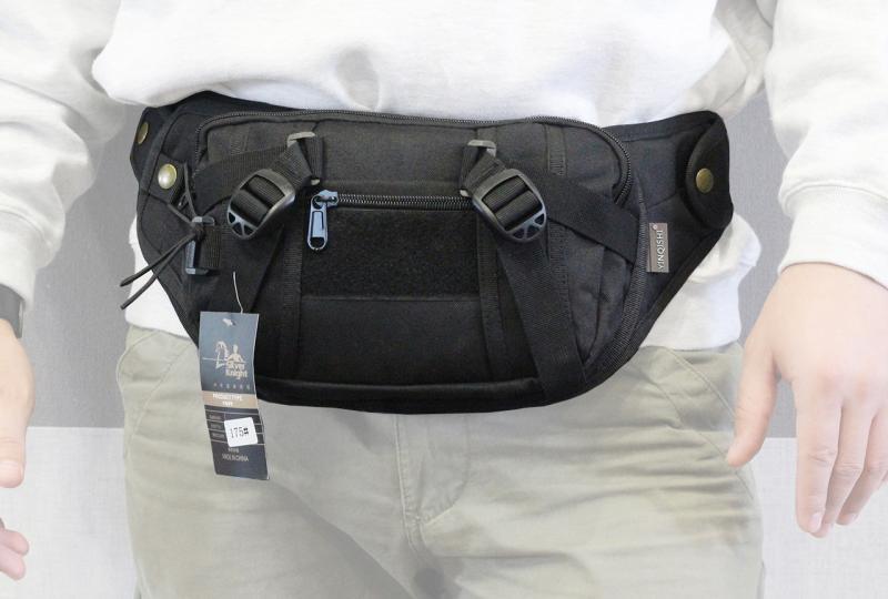 Сумка бананка (поясная сумка) с ремнём Black (175-BK)