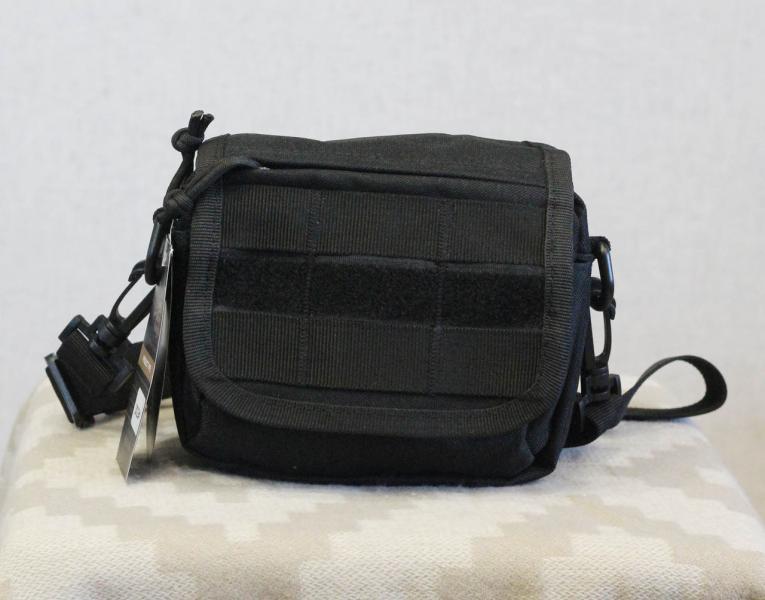 Тактическая универсальная (поясная) сумка - подсумок с ремнём и системой M.O.L.L.E Black (2013-BK)
