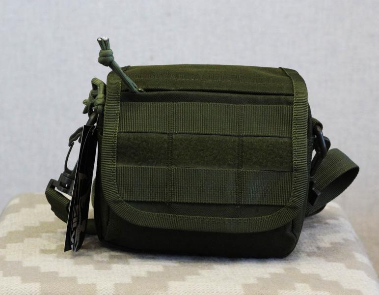 Тактическая универсальная (поясная) сумка - подсумок с ремнём и системой M.O.L.L.E Olive (2013-O)
