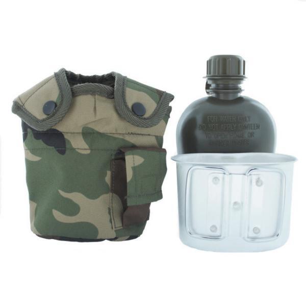 Армейская фляга с подстаканником USA Mil-tec в чехле (0,8L) (14506020)