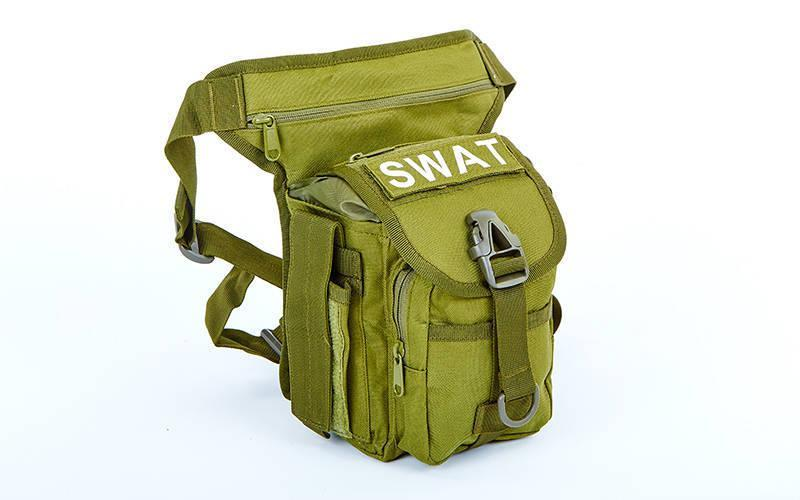 Тактическая универсальная (набедренная) сумка SWAT Olive (с307)