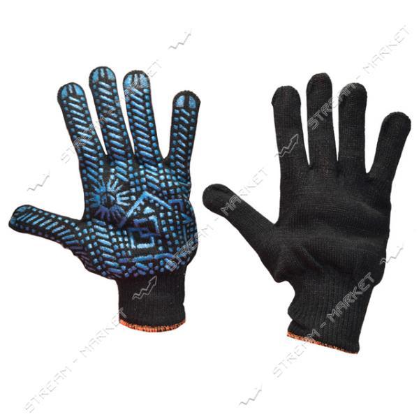 Перчатки рабочие Домик трикотажные черные арт. 114