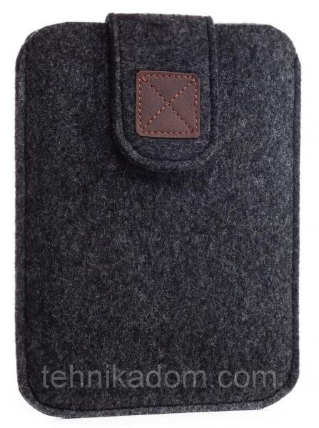 Чехол войлочный на липучке Gmakin для Amazon Kindle Paperwhite Темно-серый (GK04)