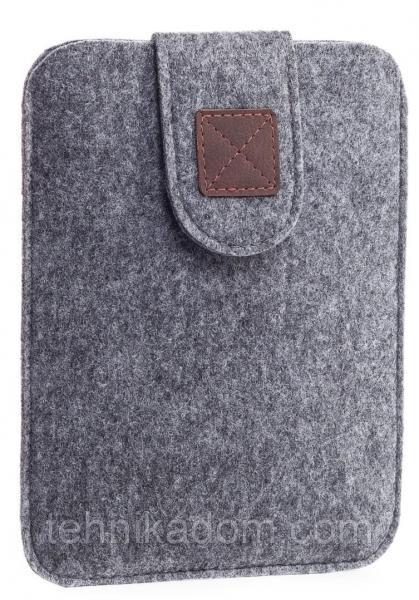 Чехол войлочный на липучке Gmakin для Amazon Kindle Paperwhite Светло-серый (GK03)
