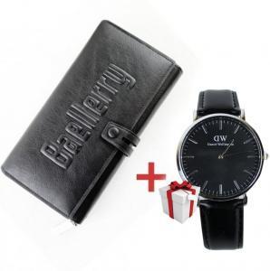 Фото Подарки, Подарки для мужчин Мужской клатч Baellerry Guero + Мужские часы DANIEL WELLINGTON в подарок