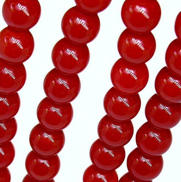 Фото Бусины ,полубусины ,стразы,.цветок, Бусины  разные Бусины  8 мм.  Хрустальные ,  красного    цвета . ( непрозрачные )    Упаковка  50  шт.