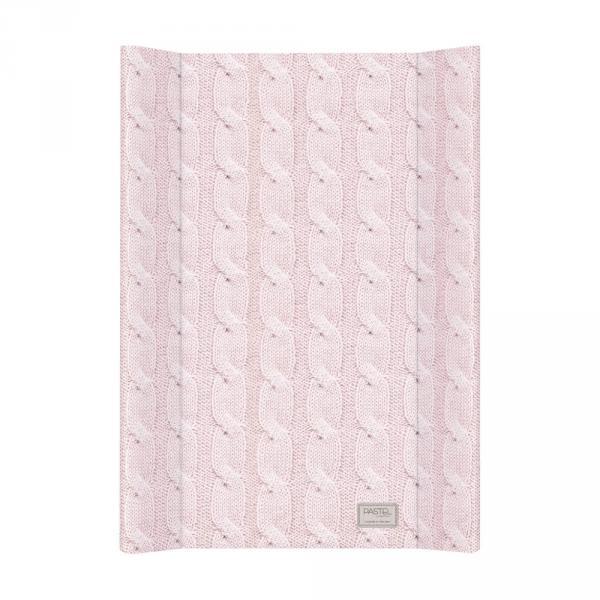 Пеленальная доска Ceba Baby 50х70 Pastel Collection Cable stitch pink