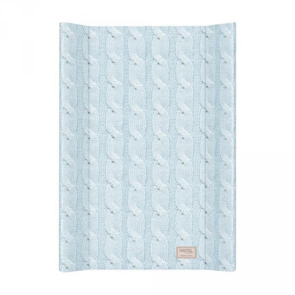 Пеленальная доска Ceba Baby 50х70 Pastel Collection Cable stitch blue