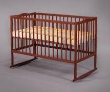 Детская деревянная кроватка на дуге (бук)