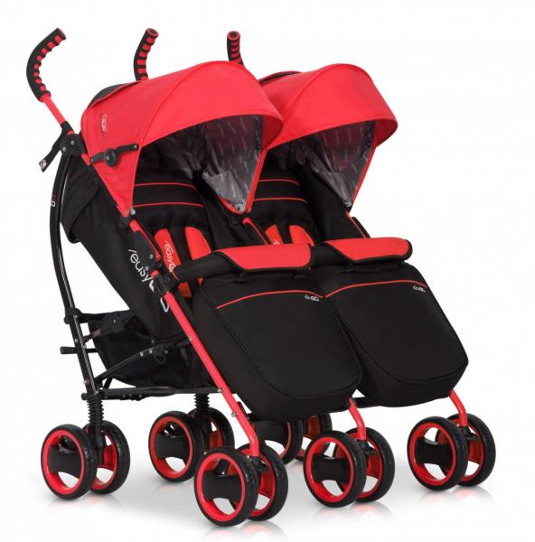 Детская прогулочная коляска для двойни EasyGo