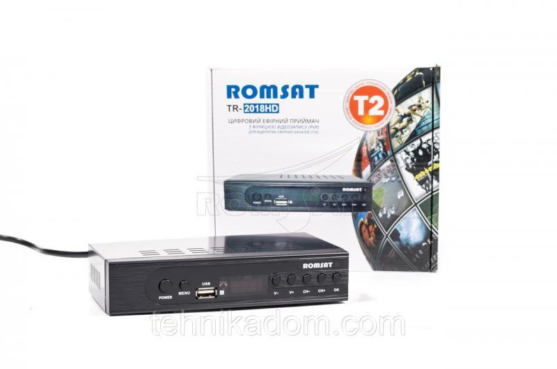 ТВ-ресивер DVB-T2 Romsat TR-2018HD