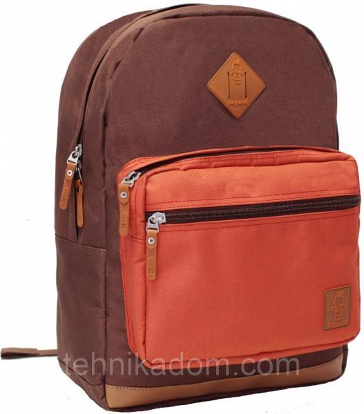 Украина Рюкзак для ноутбука Bagland Zanetti 16 л. коричневий/кирпич (0011766)