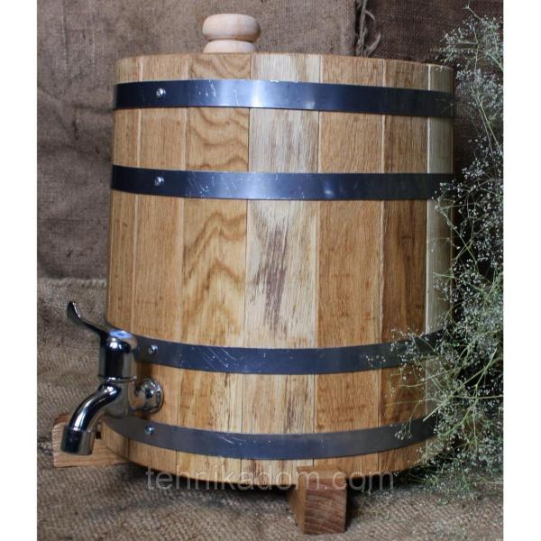 Дубовая бочка для напитков (жбан) вертикальная Seven Seasons 40 л (WT-1809-1)