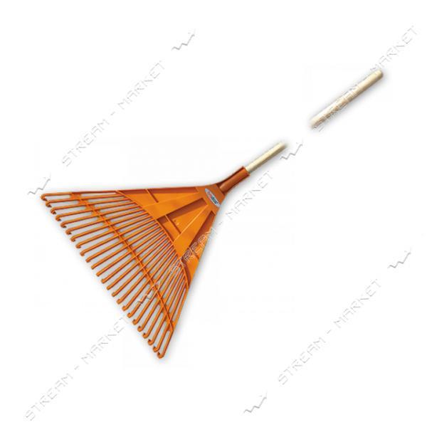 Грабли веерные Bradas КТ- CX24B 24 зубца черенок деревянный