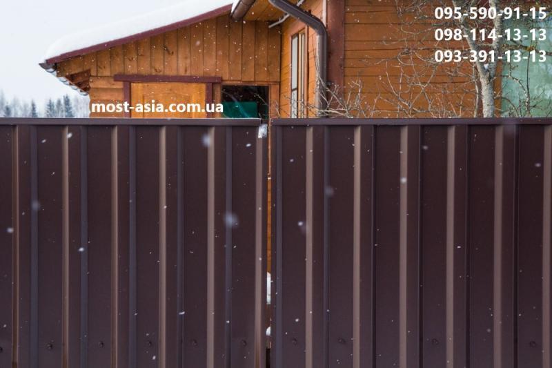 Планка заборная размер, П-образная планка размеры, Планки на забор из профлиста