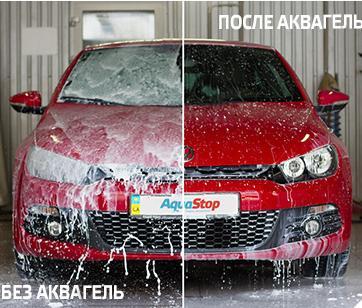 AquaGel, защита лобового стекла от льда, грязи и воды.