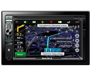 Автомагнитола  с GPS навигацией SDUN-6960 Black/Multikolor, Shuttle