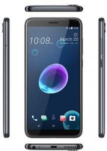 Фото Смартфоны Смартфон HTC Desire 12 Cool Black (2Q5V100) EEA, 5.5'' 1440x720, 1.5GHz, 4 Core, 3GB RAM, 32GB, up to 2TB flash, 13Mpix/5Mpix, 2 Sim, 2G, 3G, LTE, IRDA, BT, Wi-Fi, GPS, Glonass, Micro-USB, 2730mAh, Android O, 137g, 148.5x70.8x8.2