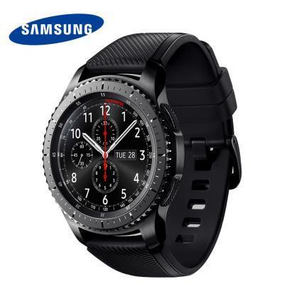 "Смарт-часы Samsung Galaxy Gear S3 Frontier SM-R760 1.3"" Super AMOLED темно-серый SM-R760NDAASER"