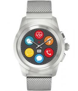 Фото  Гибридные смарт часы MyKronoz ZeTime Elite Petite миланский сетчатый браслет цвет матовое серебро, 39 мм