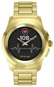 Фото  Гибридные смарт часы MyKronoz ZeTime Elite Petite мозаичный металлический ремешок цвет желтое золото, 39 мм