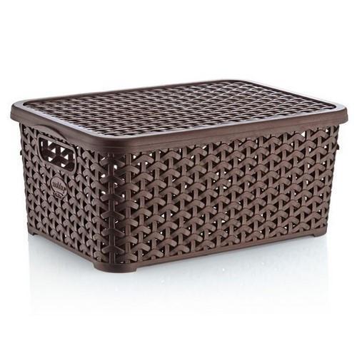 Корзина для хранения Hobbylife 10 литров 04 1256-4 коричневая #PO