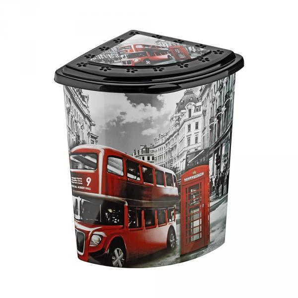Угловая корзина для белья Лондон Elif Plastik 338-9 #PO