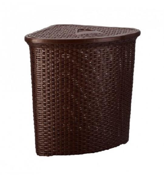 Корзина для белья угловая Senyayla 4627 коричневый #PO