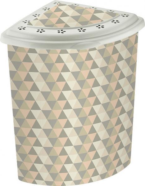 Угловая корзина для белья Elif Геометрия 338-22 #PO