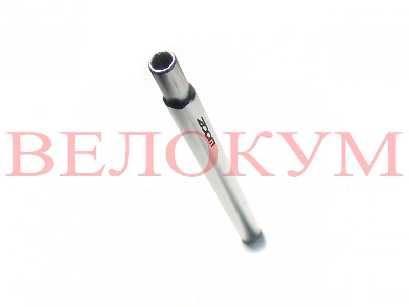 Фото СІДУШКИ, Трубка підсиділ Трубка сідла 27,2 х 350 мм ZOOM SP-102 (silver)