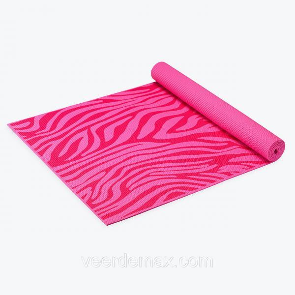 Детский коврик для йоги KIDS PINK ZEBRA YOGA MAT американской фирмы Gaiam