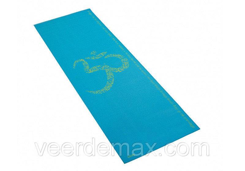 Коврик для йоги Лила Ом (Leela Om) 4 мм  Bodhi Голубой