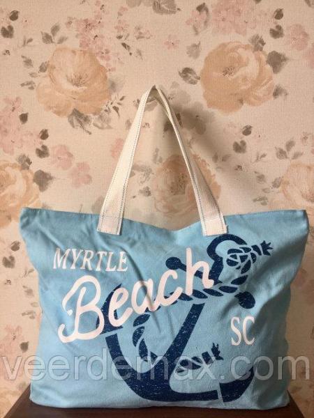 Женская пляжная сумка с якорем