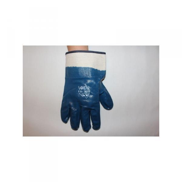 Перчатки рабочие нитриловые полный облив манжет крага опптом