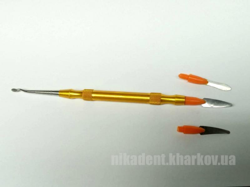 Фото Для зуботехнических лабораторий, АКСЕССУАРЫ, Инструменты Шпатель для разделения керамики (Желтый)