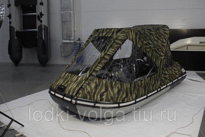 Тент трансформер кабриолетного типа для лодки 330-360 см