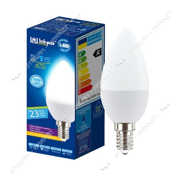 Лампа светодиодная Искра C37 5W 4000K нейтральная E14