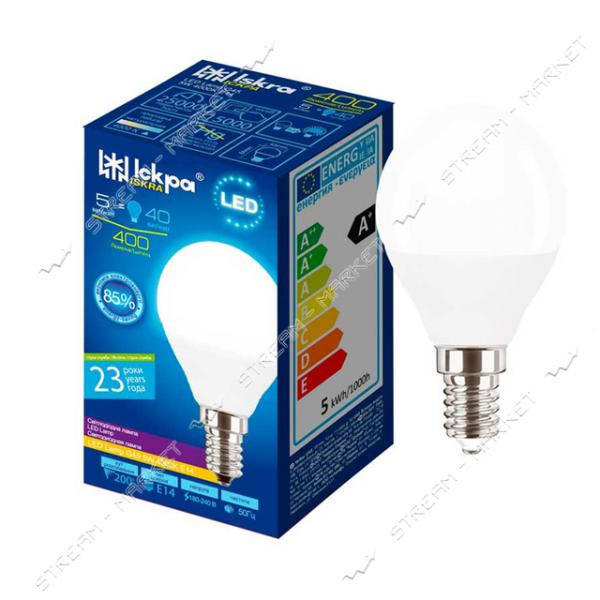 Лампа светодиодная Искра G45 5W 4000K нейтральная E14