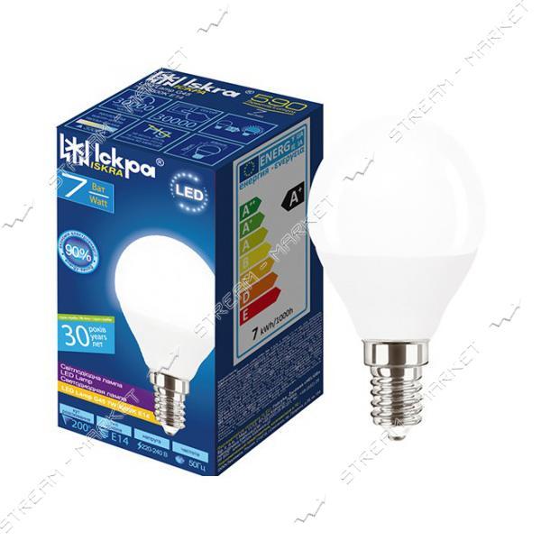 Лампа светодиодная Искра G45 7W 4000K нейтральная E14
