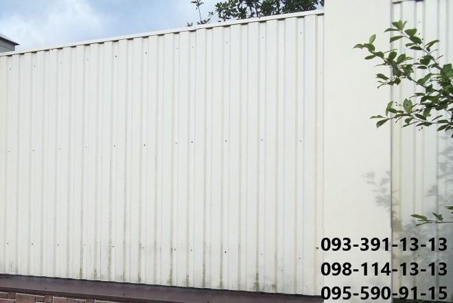 профнастил, профлист, металлопрофиль, гофролист, белый, белого цвета, белоснежный, рал, 9003