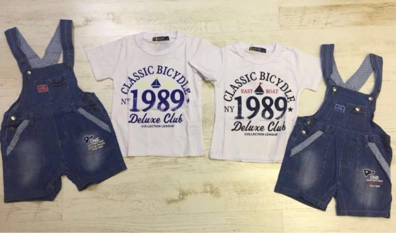 Костюм с джинсовым комбинезоном от 2 до 5 лет