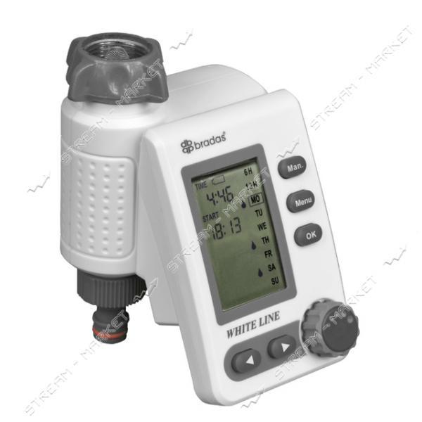 Электронный контроллер WHITE LINE WL-3132 для поливочной системы с возможностью ручного управления