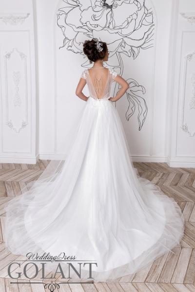 Легкое свадебное платье с открытой спиной бохо Есения