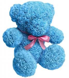 Фото Подарки, Подарки для женщин Мишка из роз Украинского производства, 25см