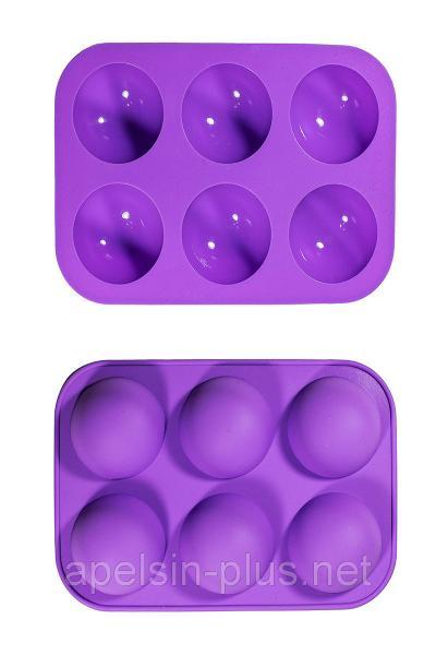 Фото Силиконовые формы для выпечки, Формы на планшете Силиконовая форма для выпечки Полусферы на  6 ячеек (малая)