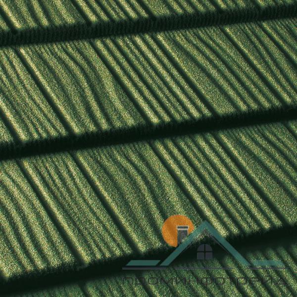 Фото Композитная черепица, Композитная черепица Queentile, Shake Композитная черепица Shake цвет (green)